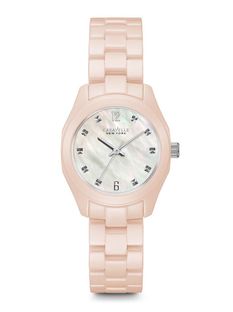 45L156 Caravelle New York by Bulova Women's Pink Ceramic Watch