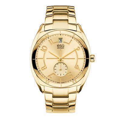 7101401 Ladies' ESQ Movado Origin Gold-Tone Stainless Steel Watch with Gold Dial