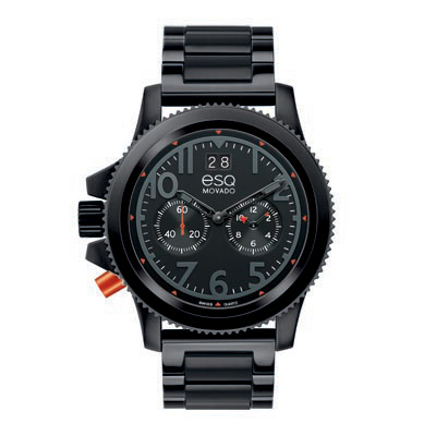07301422 ESQ Men's Fusion Black Ion-Plated Chronograph Watch with Black Dial