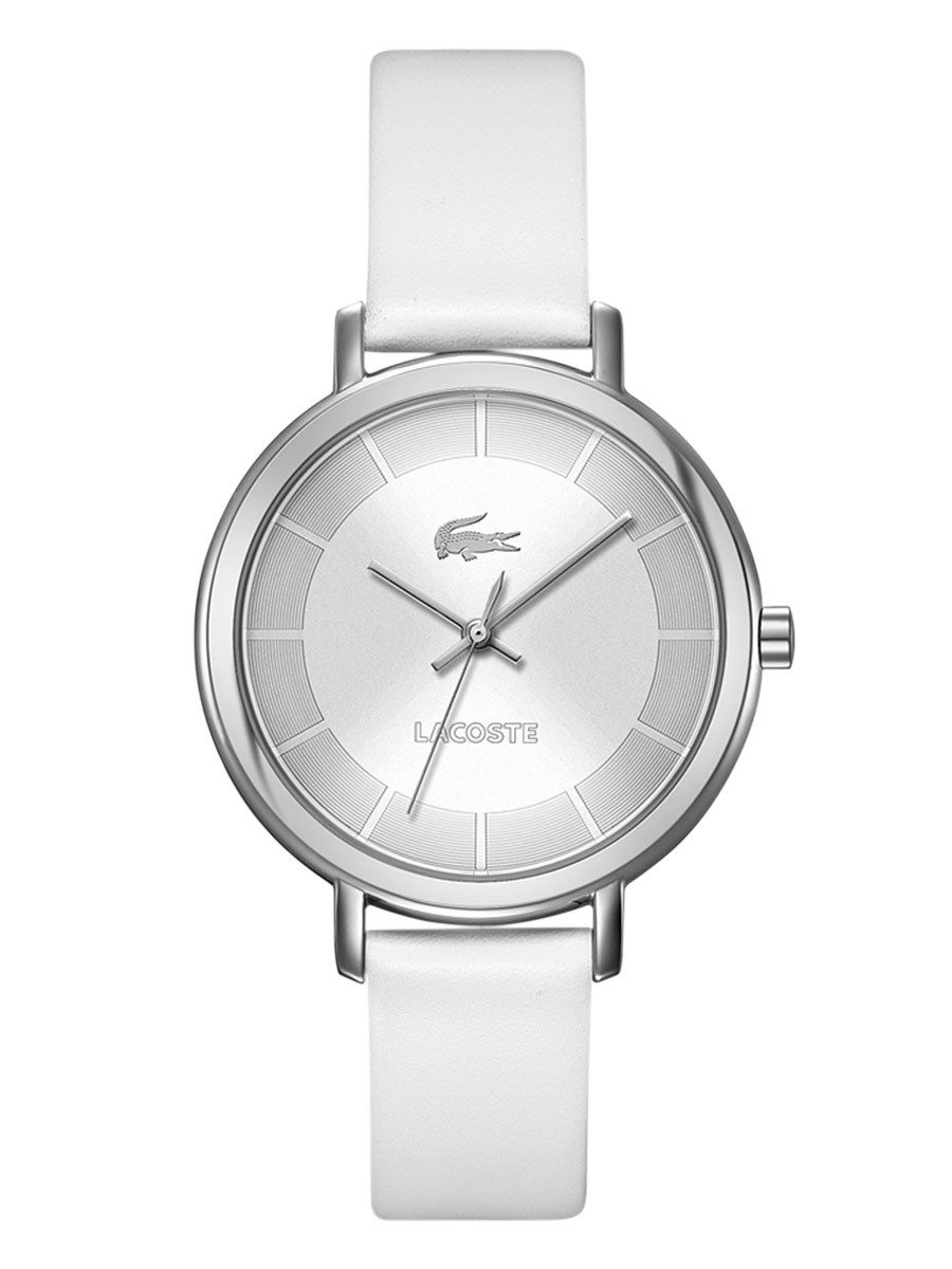 2000716 Lacoste Women's Nice White Leather Strap 36mm Watch