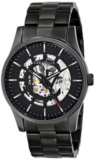 45A121 Caravelle Men's Automatic Gunmetal Stainless Steel Watch