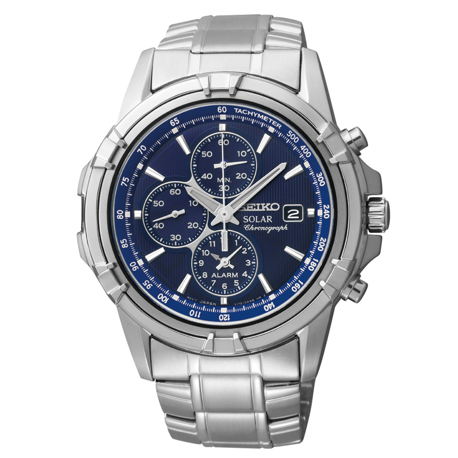 SSC141 Seiko Men's Solar Chronograph Stainless Steel Watch