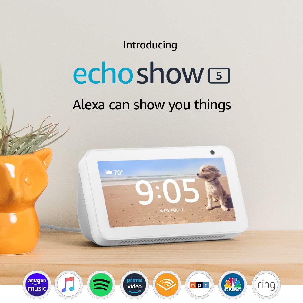 B07HZLHPKP Amazon Echo Show 5 (Sandstone)