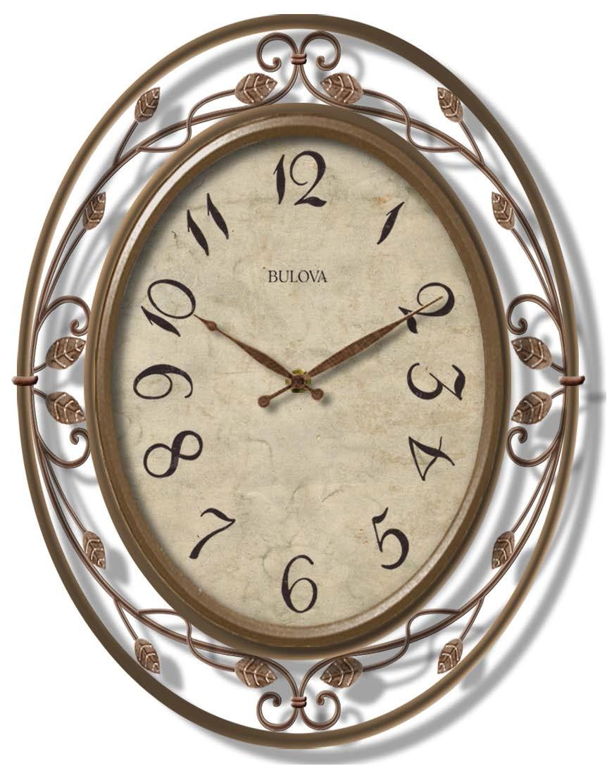 C4370 Bulova Laurel Large Decorative Wall Clock