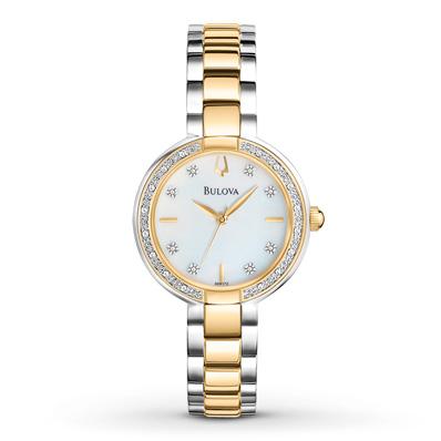 98R172 Bulova Women's Watch Diamond Bezel Two-Tone