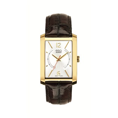 07301420 ESQ by Movado Men's Synthesis™ Rectangular Yellow Gold-Plated Watch