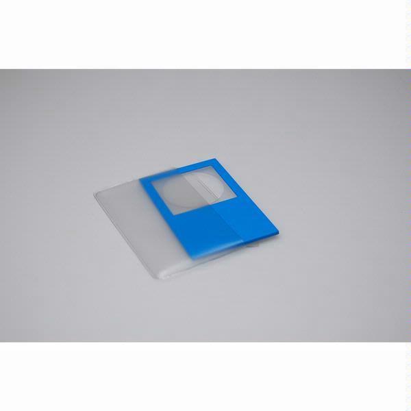 HAWK1B Card-Sized Magnifier in Blue