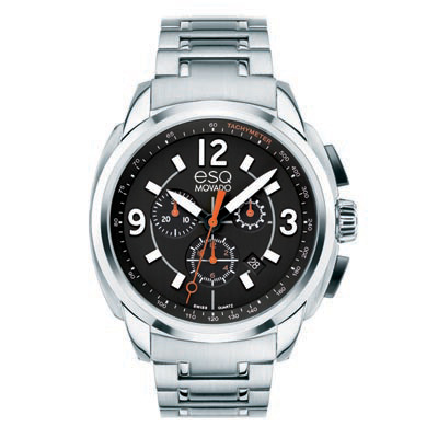 07301415 ESQ Men's Excel Chronograph Watch with Black Dial
