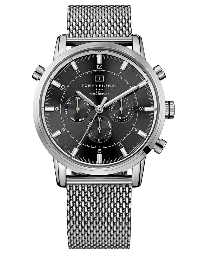 1790877 Tommy Hilfiger Men's Stainless Steel Mesh Bracelet Chronograph Dial Watch