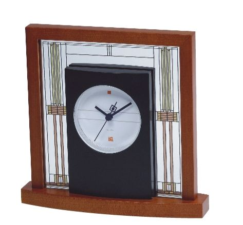B7756 Bulova Willits Table Clock from the Frank Lloyd Wright Collection