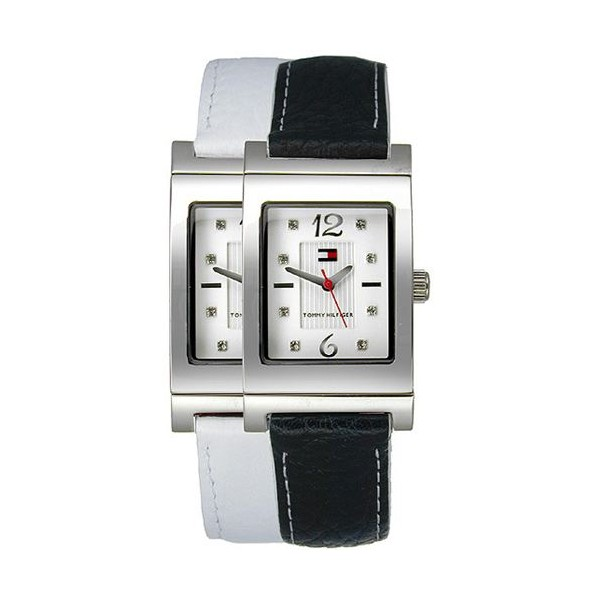 1780566 Tommy Hilfiger Ladies Reversible Blue/White Leather Strap Watch