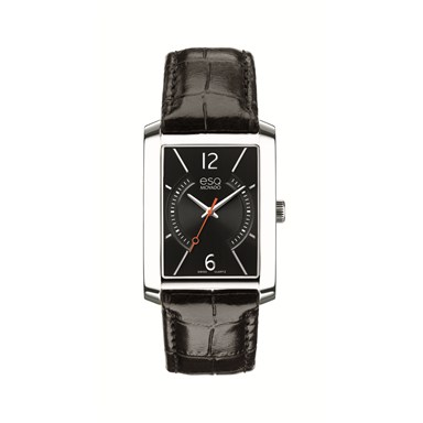 07301406 ESQ Men's Synthesis Watch with Rectangular Black Dial
