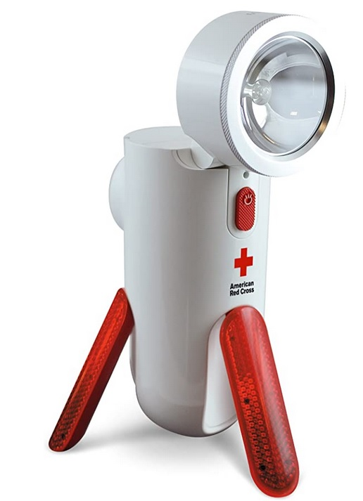 American Red Cross Road Torq Self-Powered Spotlight and Emergency Beacon