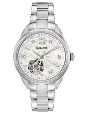 96P181 Bulova Women's Silver Tone Automatic Bracelet Watch
