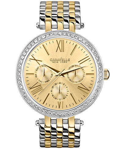 45N100 Caravelle New York by Bulova Women's Chronograph Two-Tone Stainless Steel Bracelet Watch