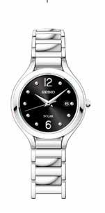 SUT177 Seiko Women's Solar Black Dial Silver Stainless Steel Watch