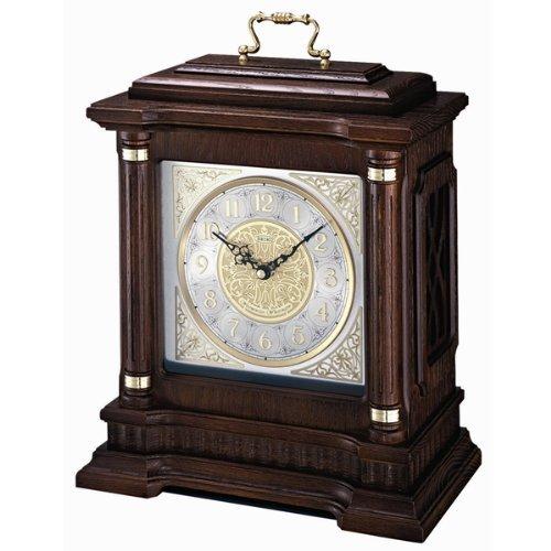 QXJ004BLH Seiko Oak Carriage Mantel Clock