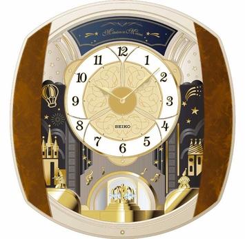 Seiko QXM496BRH Melodies in Motion Clock
