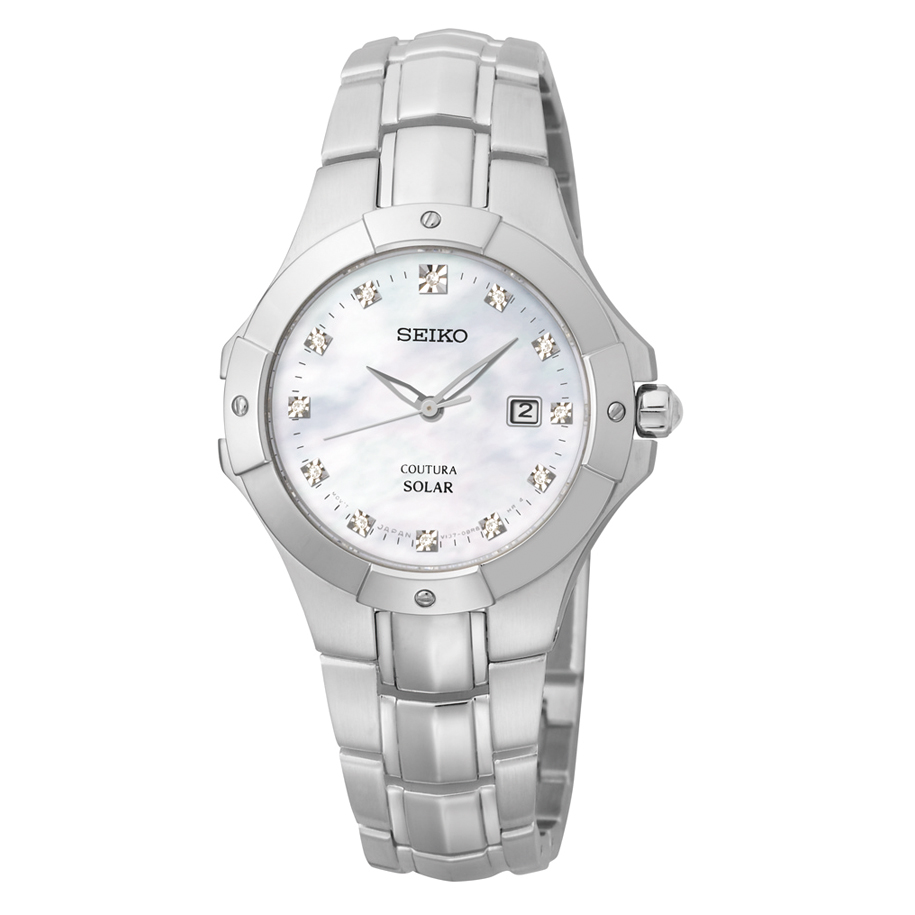 SUT125 Seiko Women's Solar Mother of Pearl Dial Watch