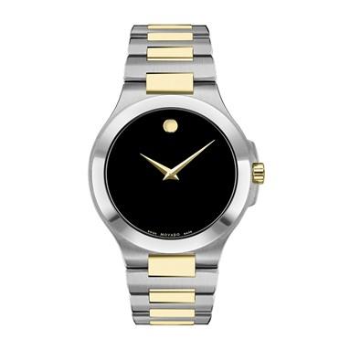 0606907 Movado Mens Corporate Exclusive 2 Tone Bracelet Round Watch