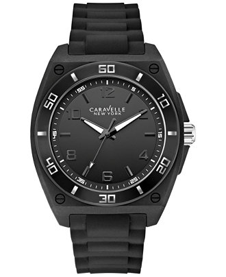 43A127 CARAVELLE NEW YORK Men's Rubber Strap Watch