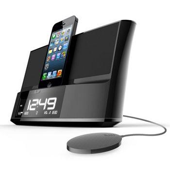 TimeShaker iLuv Dual Alarm Clock Speaker with Bed Shaker and Lightning Dock