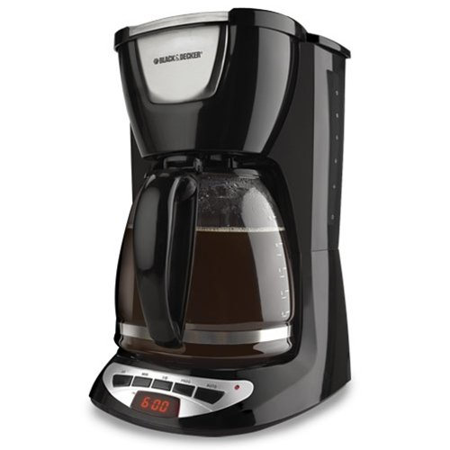 DCM100B Black & Decker 12-Cup Programmable Coffeemaker with Glass Carafe