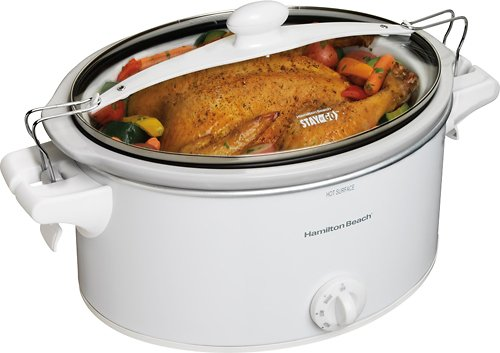 6 Qt. Stay or Go Slow Cooker White