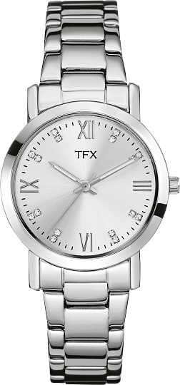 TFX by Bulova Womens Silver Bracelet Watch