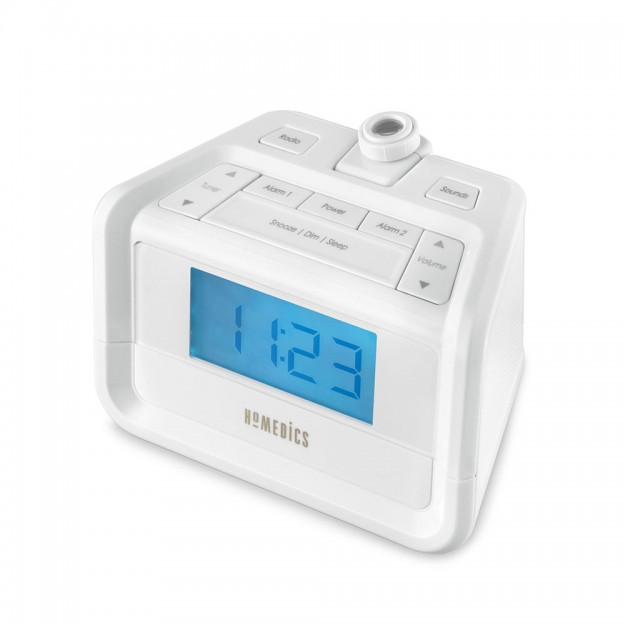 SS-4520 Homedics SoundSpa® Digital FM Clock Radio with Time Projection