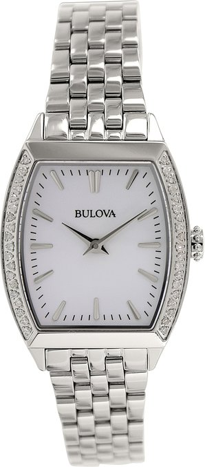 96R196 Bulova Women's Diamond Accent Stainless Steel Bracelet Watch