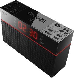 CRABT-100-BLK Coby Bluetooth Alarm Clock