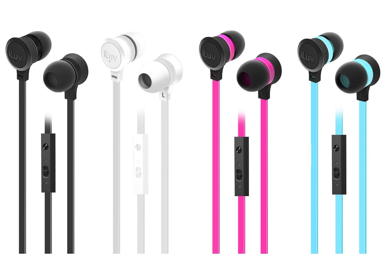 IEP336 iLuv Neon Sound Earphone with SpeakEz Remote for Smartphones