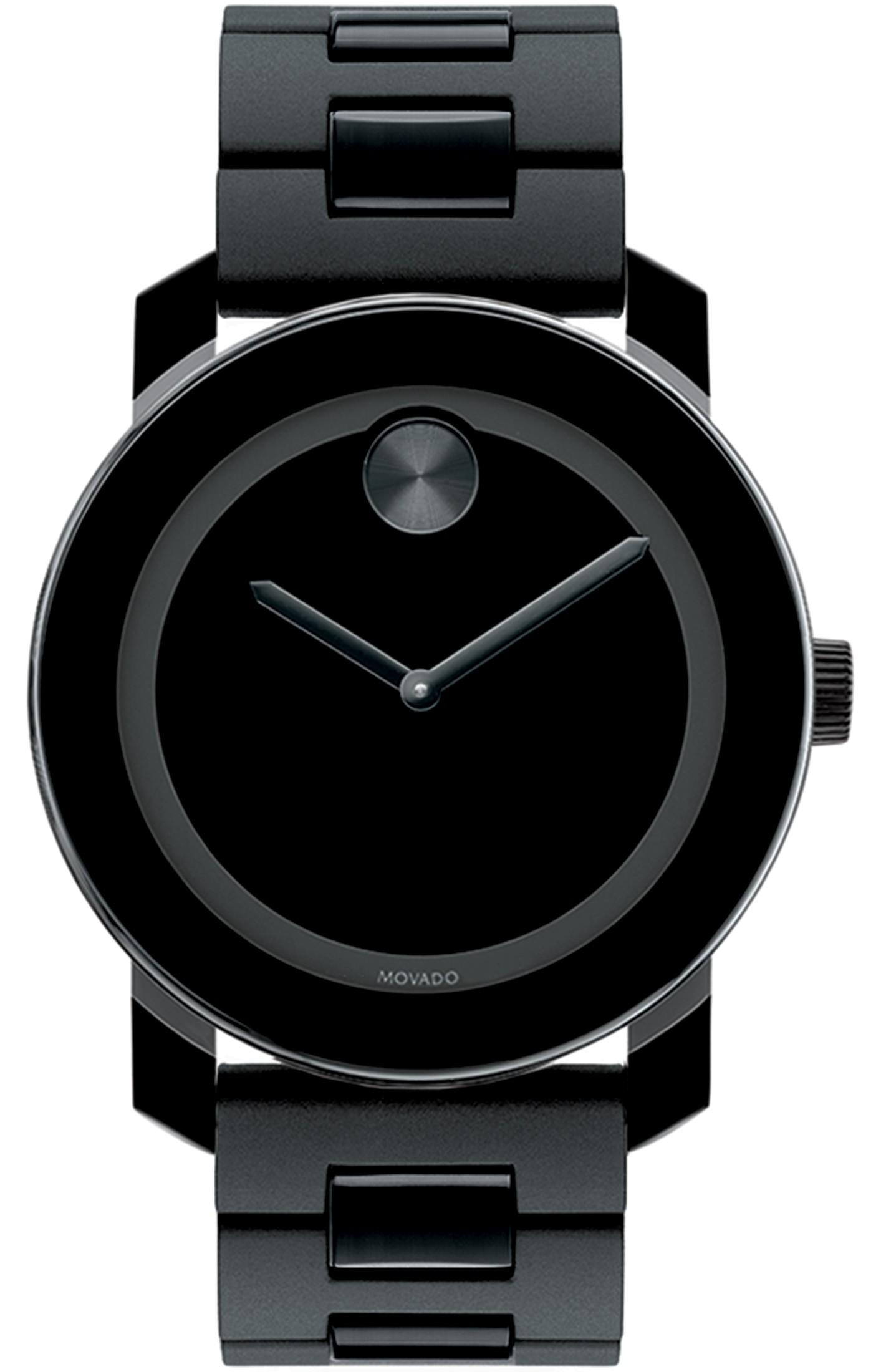 3600047 Movado Swiss Bold Large Black Polymer Bracelet Watch