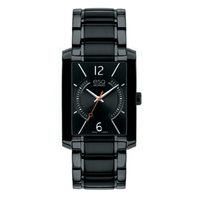 7301411 Men's ESQ by Movado Synthesis Black Ion-Plated Stainless Steel Watch with Rectangular Black Dia