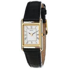 SUP250 Seiko Women's Solar Rectangle Dial Leather Strap Watch