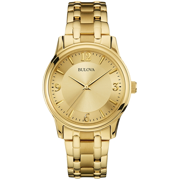 97A120  Bulova Men's Corporate Collection Gold Bracelet Watch