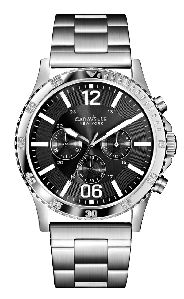 43A115 Caravelle Men's Chronograph Stainless Steel Bracelet Watch