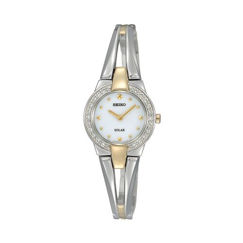 SUP206 Seiko Women's Solar Tressia Two Tone Stainless Steel Watch