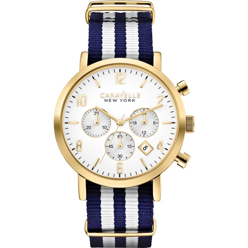 44B107 Caravelle New York Men's Jasper Two Tone Chronograph Watch