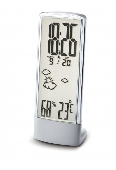See-Through Crystalline Weather Station and Clock