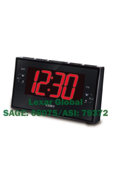 CBCR-103-BLK Coby Digital Alarm Clock