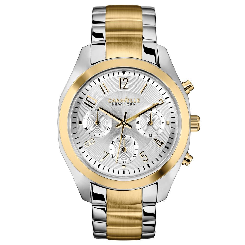44L114 Caravelle Women's Chronograph Crystal Stainless Steel Watch