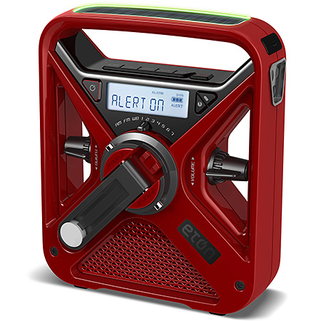 FRX3+ Hand Turbine AM/FM NOAA Weather Radio with USB Smartphone Charger and LED Flashlight