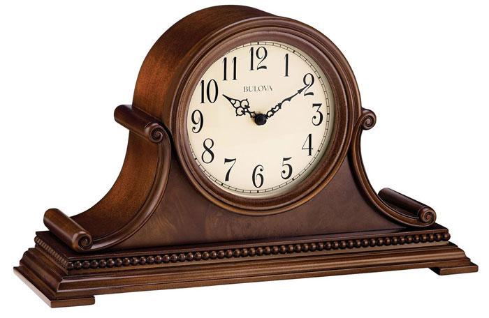 B1514 Bulova Asheville Park Mantle Tabletop Chime Clock