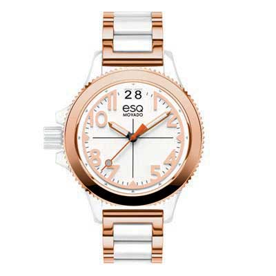 07101403 ESQ Ladies Fusion Two-Tone Watch with White Dial