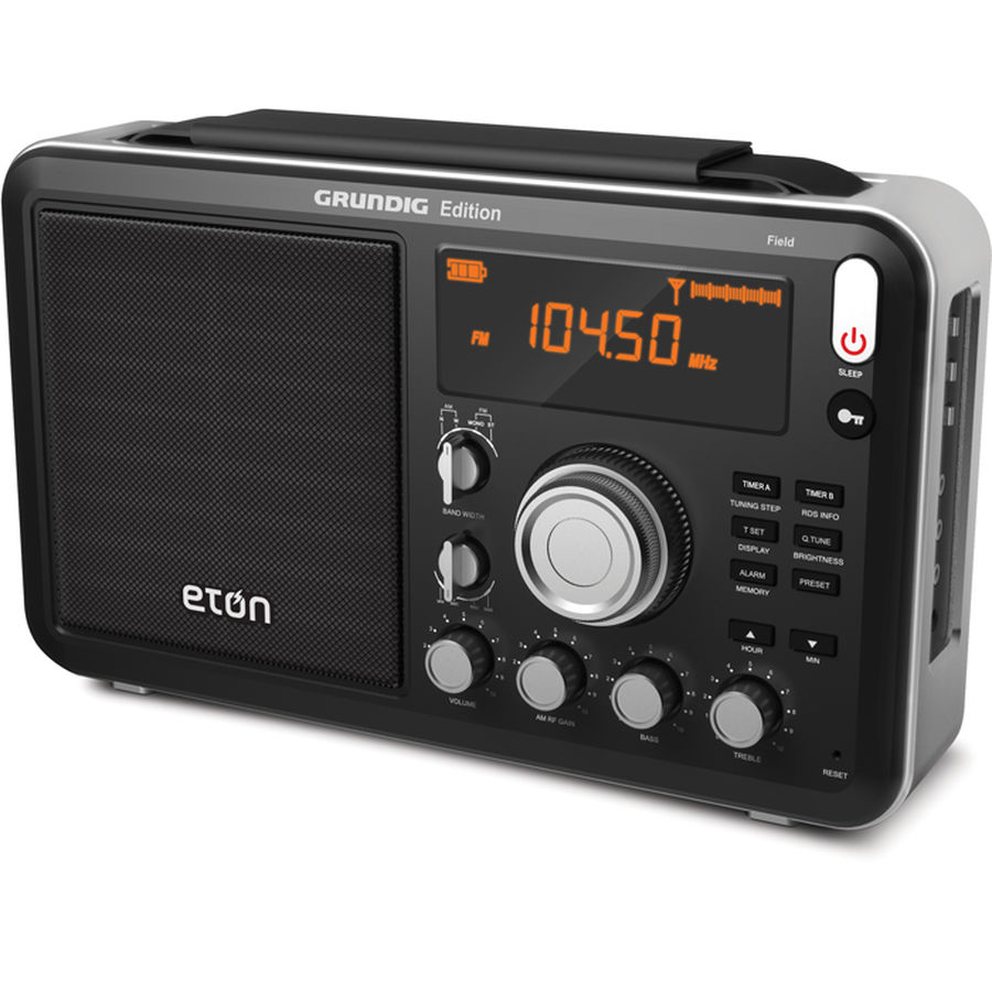 Grundig Field AM/FM with RDS & Shortwave Radio by Eton