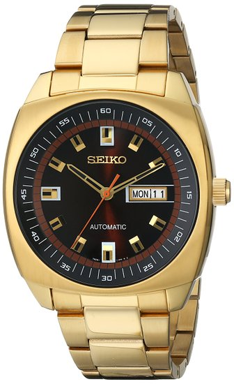 SNKM98 Seiko Men's Automatic Gold-Tone Stainless Steel Bracelet Watch