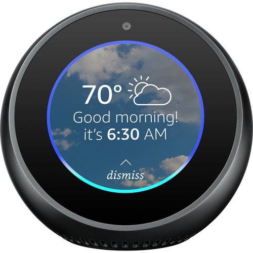 "B073SQYXTW Amazon Echo Spot Alexa-enabled Speaker with 2.5"" Screen in Black"