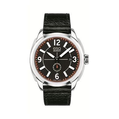 07301410 ESQ by Movado Excel Arabic Black Leather Strap Watch